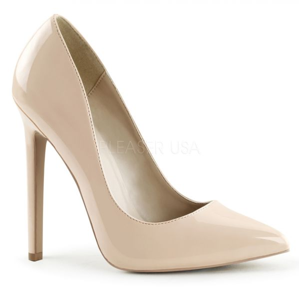 4967687add7452 Stiletto High Heels nude Lack SEXY-20 Pleaser